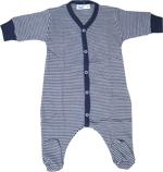 Cotton People - Schlafanzug einteilig mit Fuß dunkelblau