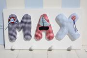 Garderobe Max blau/rot