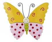 Mila - Metallanhänger Lovely Butterflies gelb