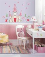 RoomMates Wandsticker - Prinzessinnen Schloß