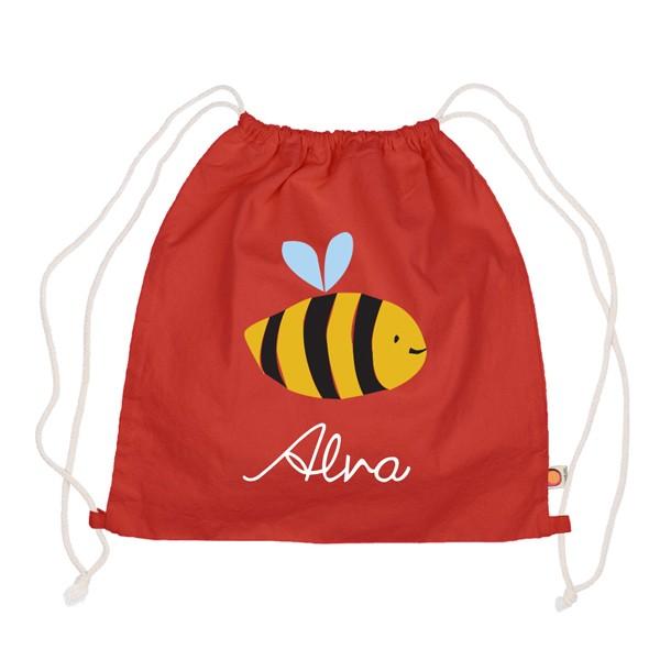 Holubolu Turnbeutel Biene mit Namen