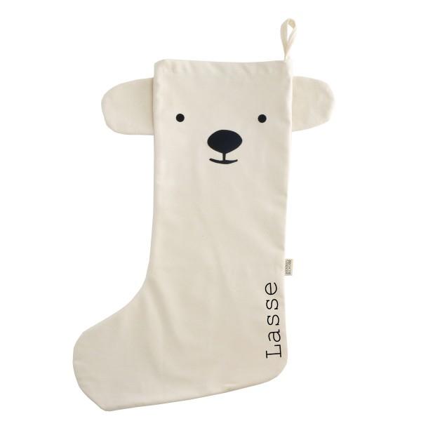 Nikolausstrumpf Eisbär mit Ohren