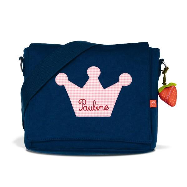 Kindergartentasche Krone rosa mit Namen