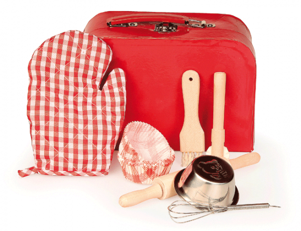 Backset mit Koffer rot