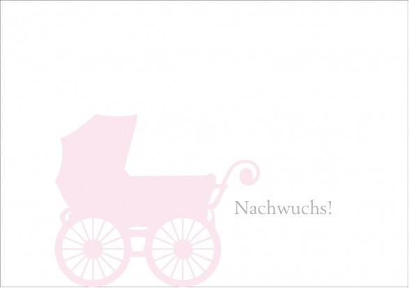 Klappkarte Nachwuchs rosa