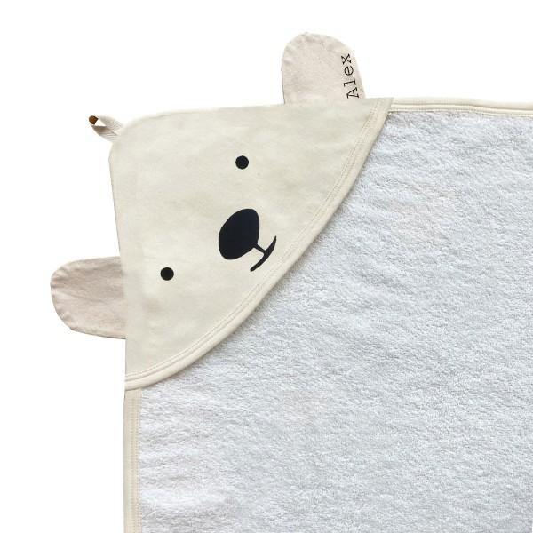 Minna Kapuzenhandtuch Eisbär