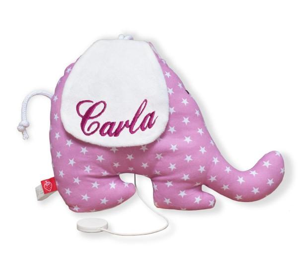 La Fraise Rouge - Spieluhr Elefant Albertine mit Namen