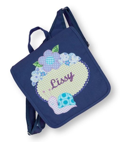 Kindergartentasche dunkelblau Lissy Schnecke