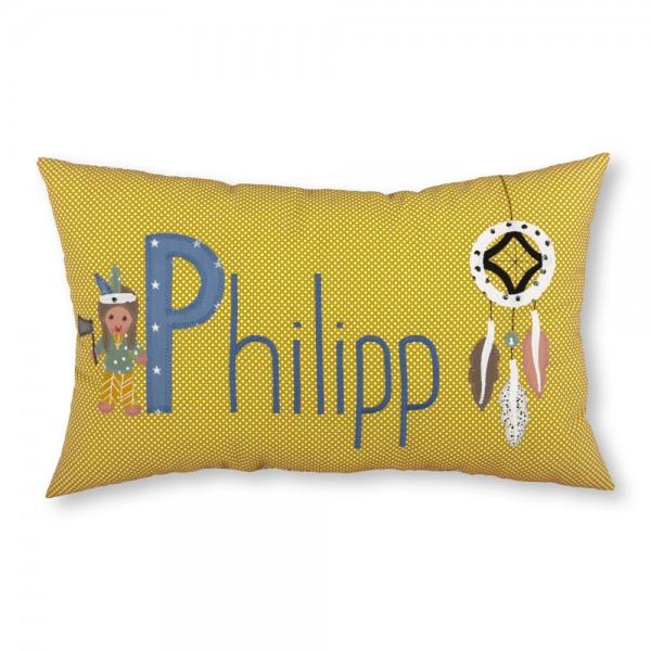 crepes suzette Kissen mit Name Philipp Indianer