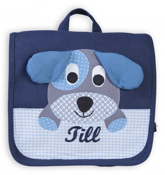Kindergartentasche blau Hund Till