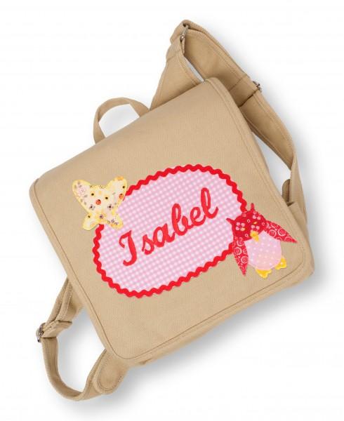 Kindergartentasche beige Isabel Eule