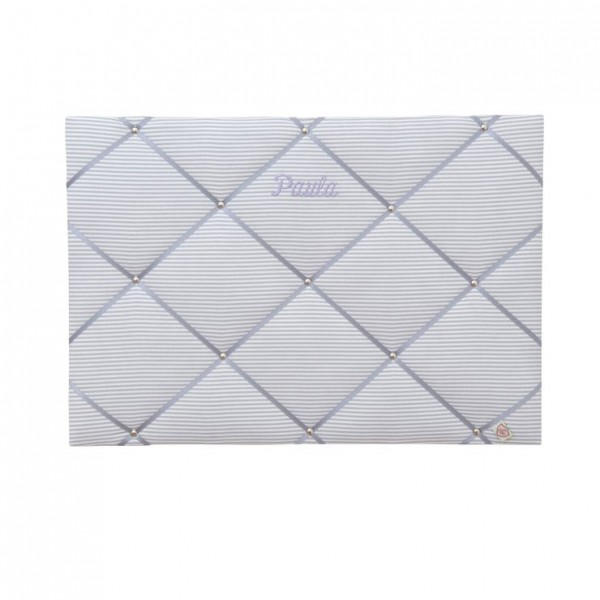 Memoboard Streifen hellgrau - grau personalisiert