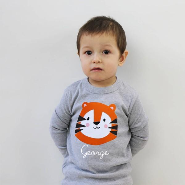 T-Shirt Tiger mit Namen