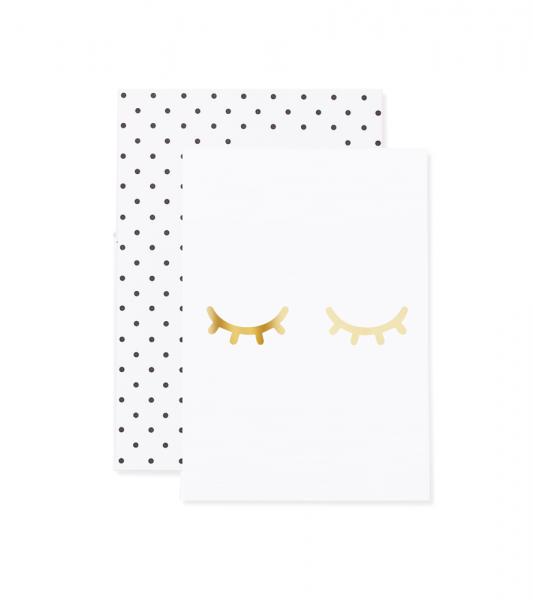 Eulenschnitt - Grußkarte Müde Augen gold