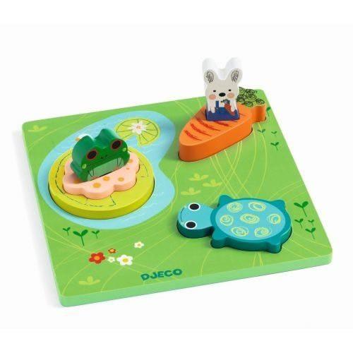 Djeco - Reliefpuzzle Froggy