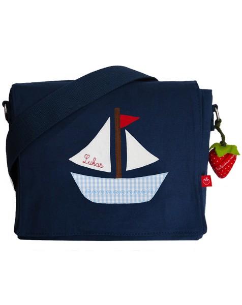 Kindergartentasche Boot mit Namen