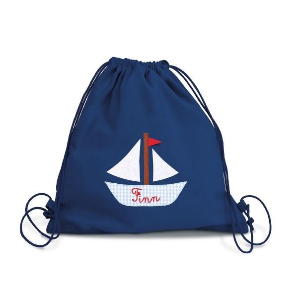 Fraise Turnbeutel Boot mit Namen