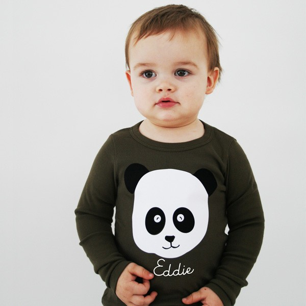 T-Shirt Panda mit Namen