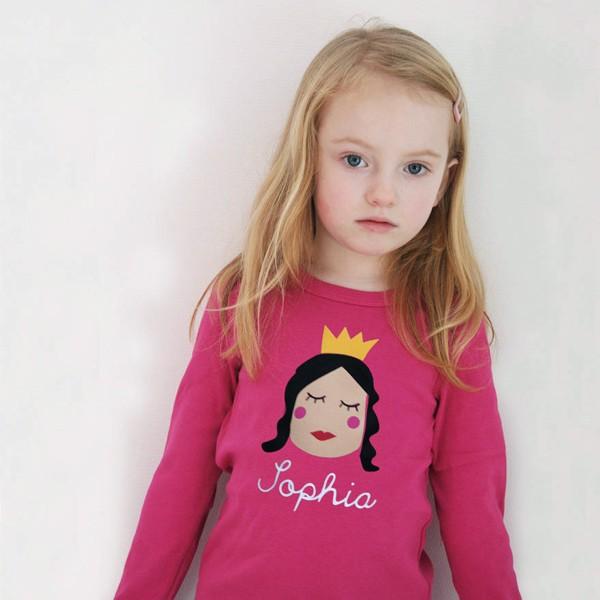 T-Shirt Prinzessin mit Namen