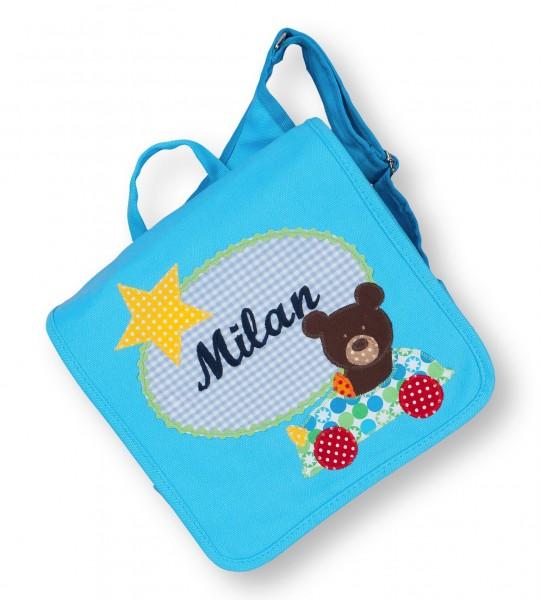 Kindergartentasche türkis Milan Bär