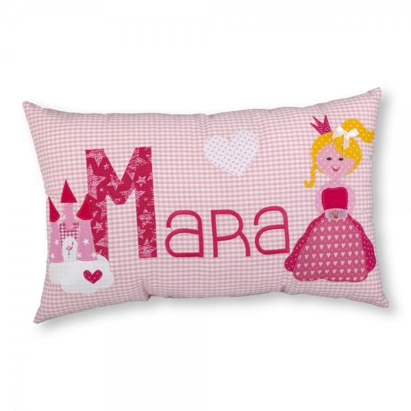 crepes suzette Kissen mit Name Mara rosa Prinzessin