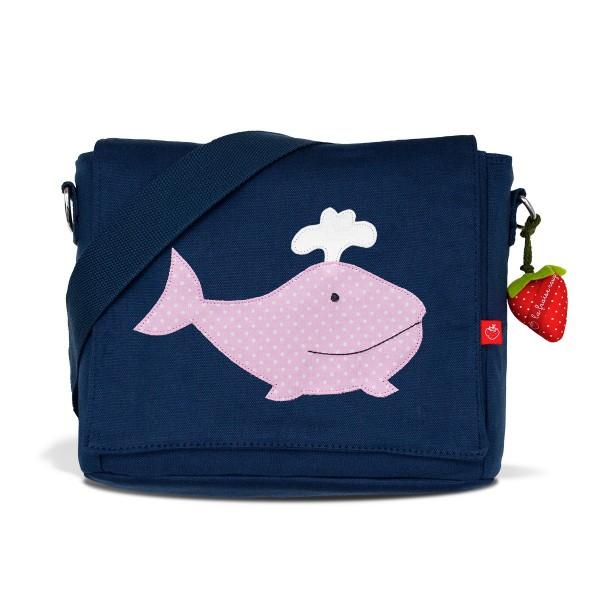 Kindergartentasche Wal rosa mit Namen