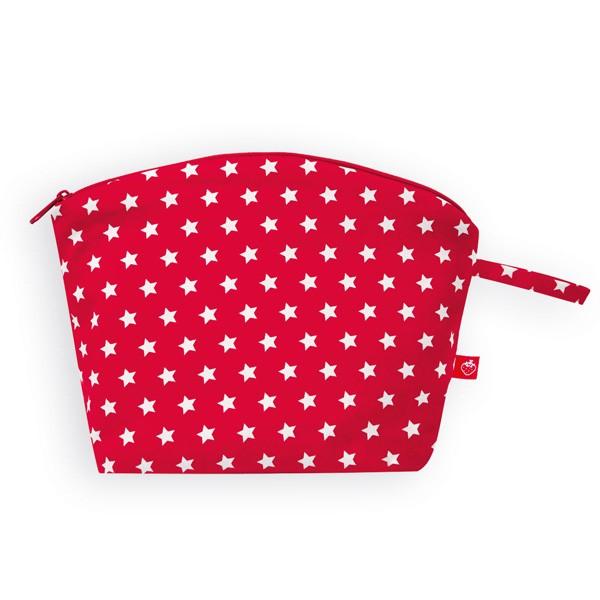 La Fraise Rouge - Kulturtasche Sterne rot/weiss