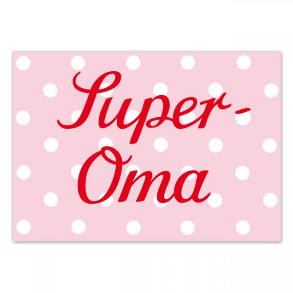 Krima & Isa - Postkarte Super Oma