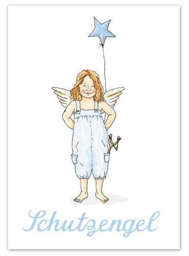 Krima & Isa - Postkarte Schutzengel