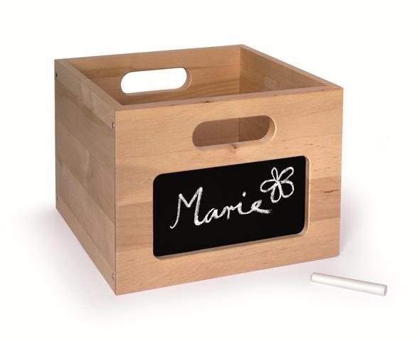 Holzbox mit Tafelfolie
