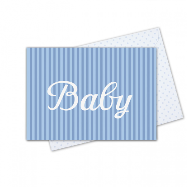 Krima & Isa - Klappkarte Baby blau