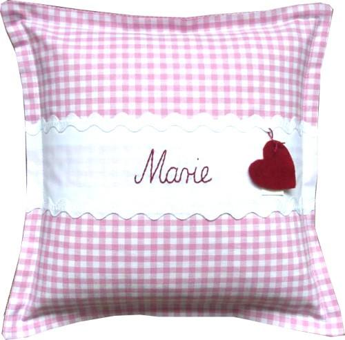 personalisiertes Kissen 30x30 rosa