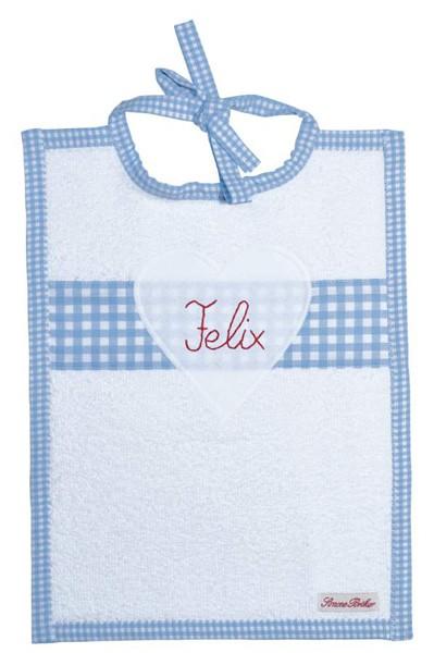 Lätzchen personalisiert hellblau
