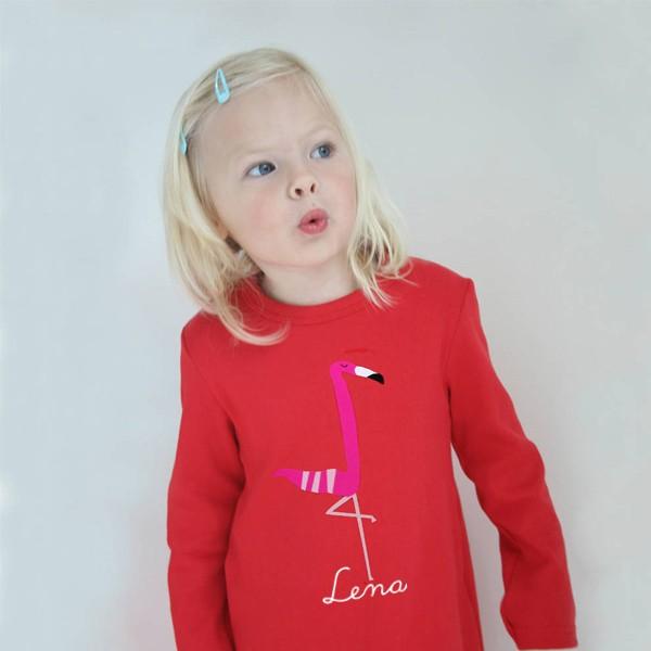 T-Shirt Flamingo mit Namen