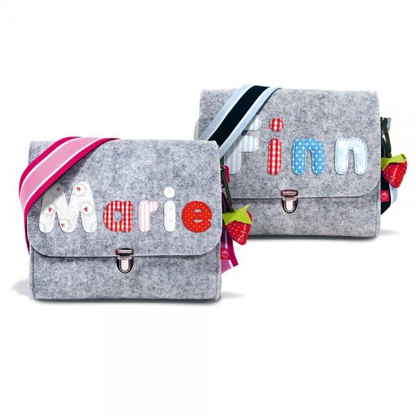 Filztasche mit Buchstaben bunt
