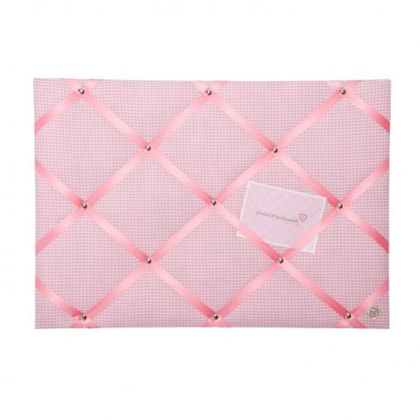 Memoboard Karo rosa - pink
