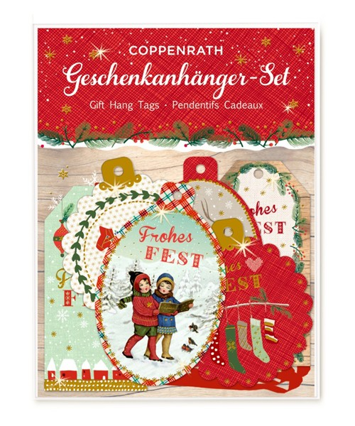 Geschenkanhängerset Frohes Fest