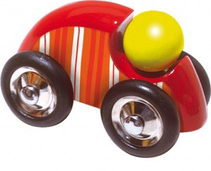 Vilac- großes Holzauto mit Streifen rot