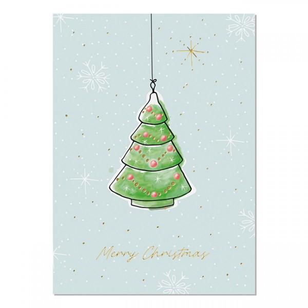 Krima & Isa - Postkarte Weihnachtsliebelei Tannenbaum