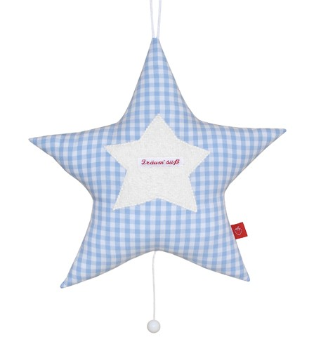 La Fraise Rouge - Spieluhr Stern hellblau