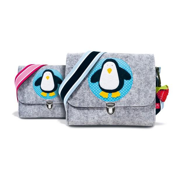 Filztasche Pinguin mit Namen