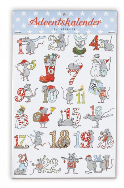 Krima & Isa - Adventskalenderzahlen Mäuse