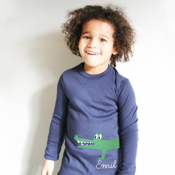T-Shirt Krokodil mit Namen