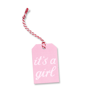 Krima & Isa - Geschenkanhänger It´s a girl