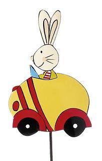 Mila - Hasenstecker Auto gelb