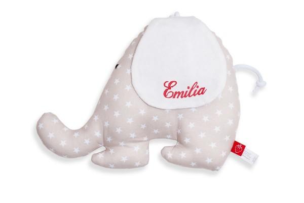 La Fraise Rouge - Spieluhr Elefant Gilberte mit Namen