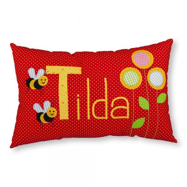 crepes suzette Kissen mit Name Tilda Bienen