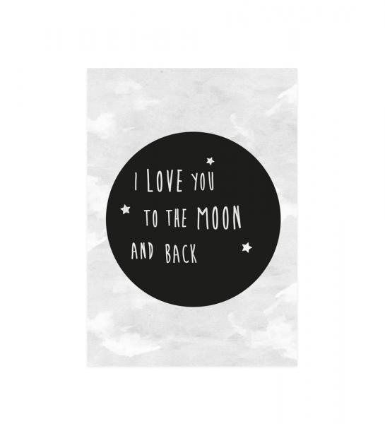 Eulenschnitt - Postkarte Moon