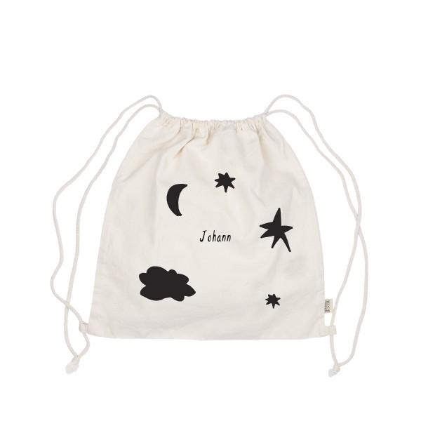Turnbeutel Sonne, Mond und Sterne mit Namen