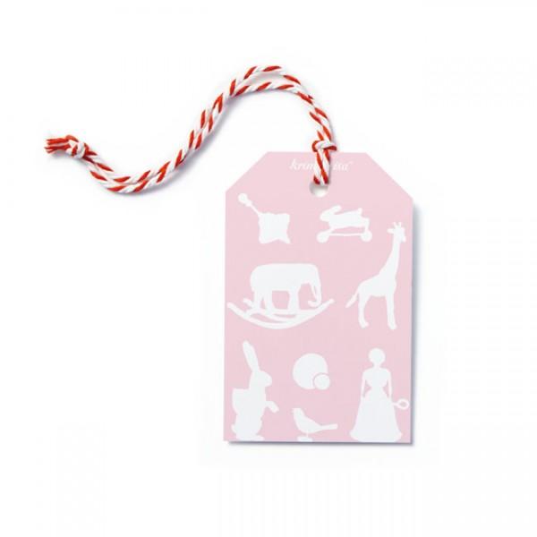 Krima & Isa - Geschenkanhänger Spielwaren rosa